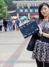 时钟美女刘岳月的封面真人秀 刘岳月照片