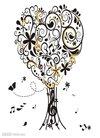 背景,美丽的,蝴蝶,经典,古典的,谱号,作曲家,作文...