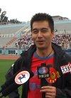 资料图片:梦舟足球队活动--许亚军接受采访