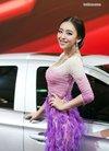 长袭紫裙 气质 车模 曹阳 写真 手机壁纸 长袭紫...
