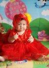 自己一个人给宝贝拍的周岁写真