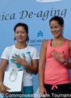 图文-李娜出席巴厘岛宣传活动 与两大美女比拼...