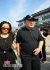 图文:罗京追悼会--小鹿姐姐与董浩齐来吊唁